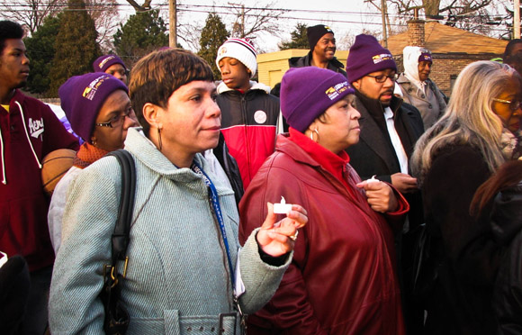 SEIU home care worker Cynthia Youngblood spoke out against the neighborhood gun violence that almost took her daughter's life.