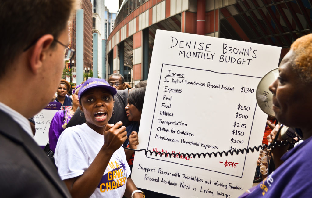 Denise Brown, home care worker, talks about how she manages to get by on poverty wages.