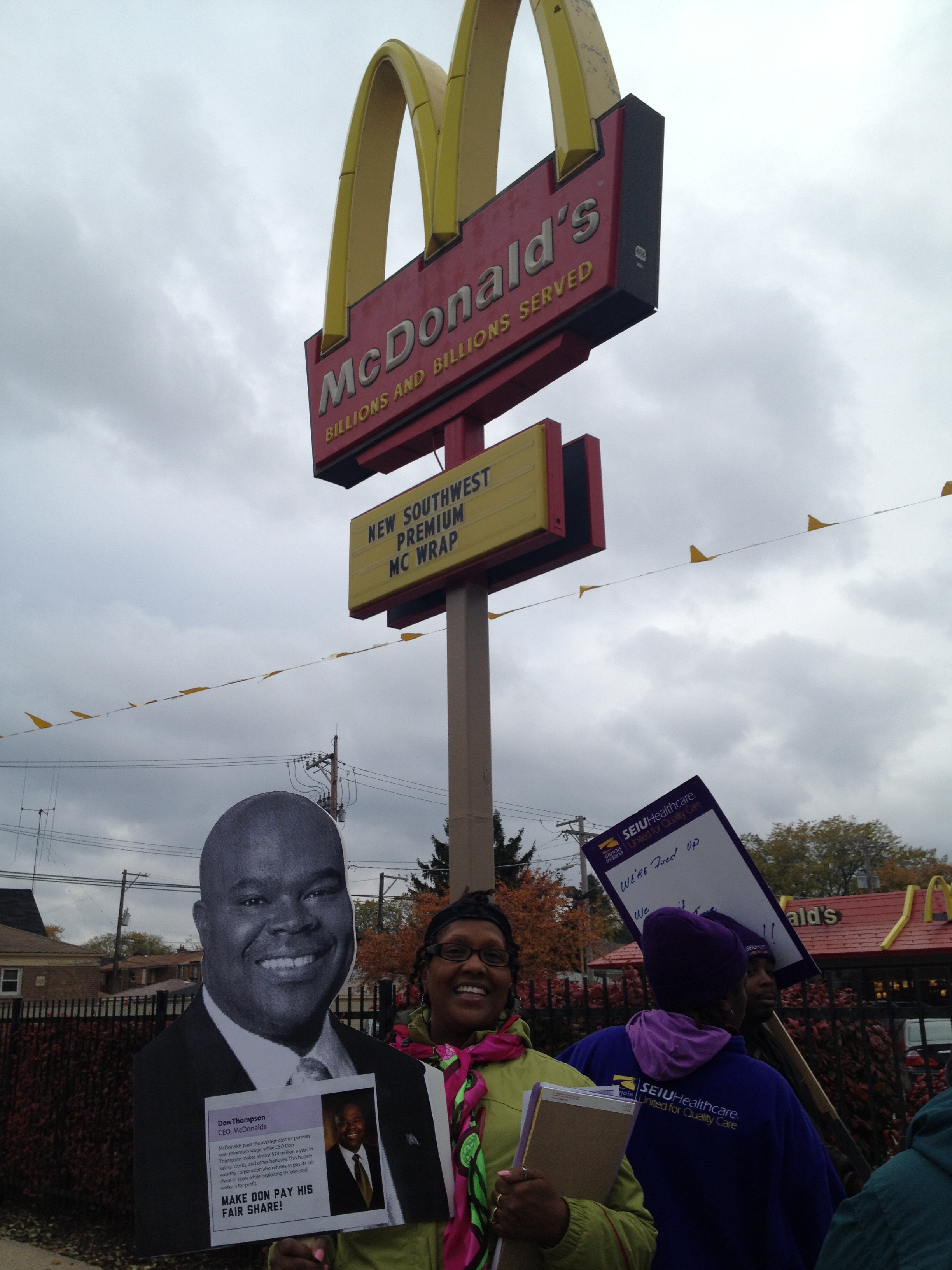 South Side, Chicago: workers call on McDonald's CEO to pay fair share in taxes, Nov. 1st, 2013