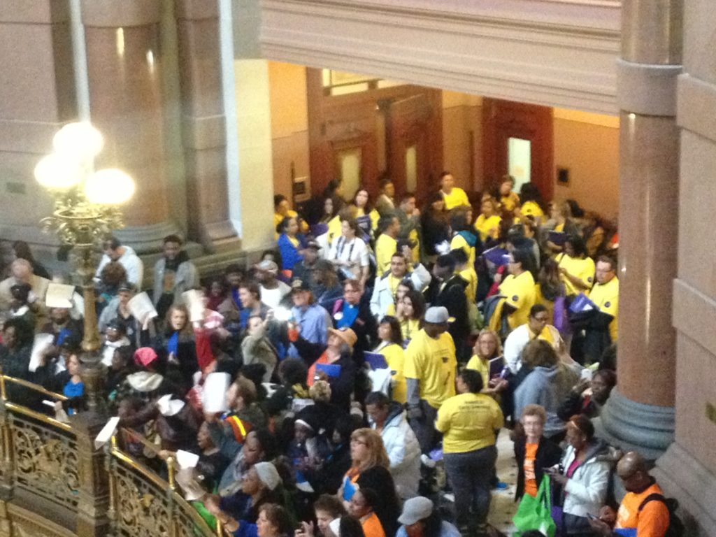 Working families converge onto the state capitol to demand that state lawmakers vote for the Fair Tax Act, 04/29/14