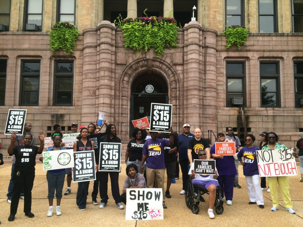 Show Me 15 8.19.15 Rally for $15 Wage