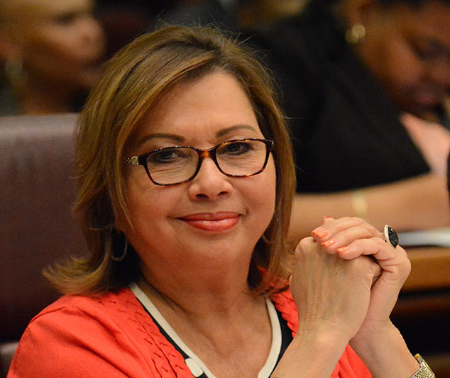 Alderman Milagros Santiago at todays City Council meeting. Wednesday, May 18, 2016
