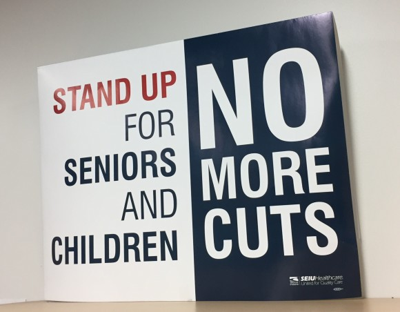 Sign Stand up for Seniors and Kids