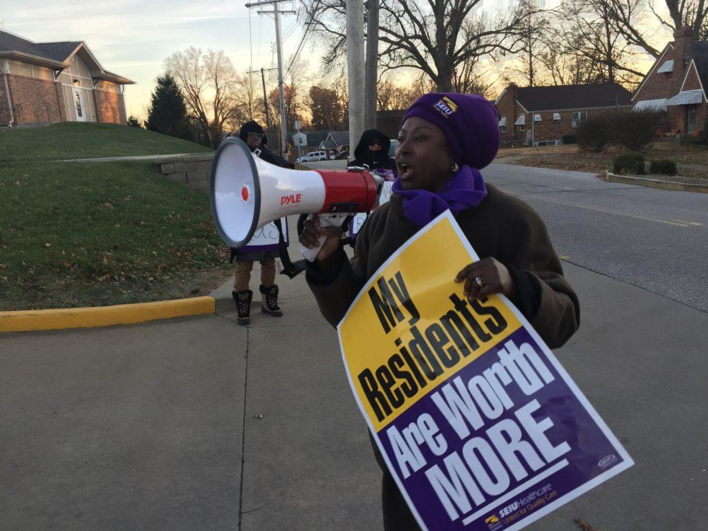 Day 12 of strike outside of Christian Care Nursing Home strike, December 12, 2017.