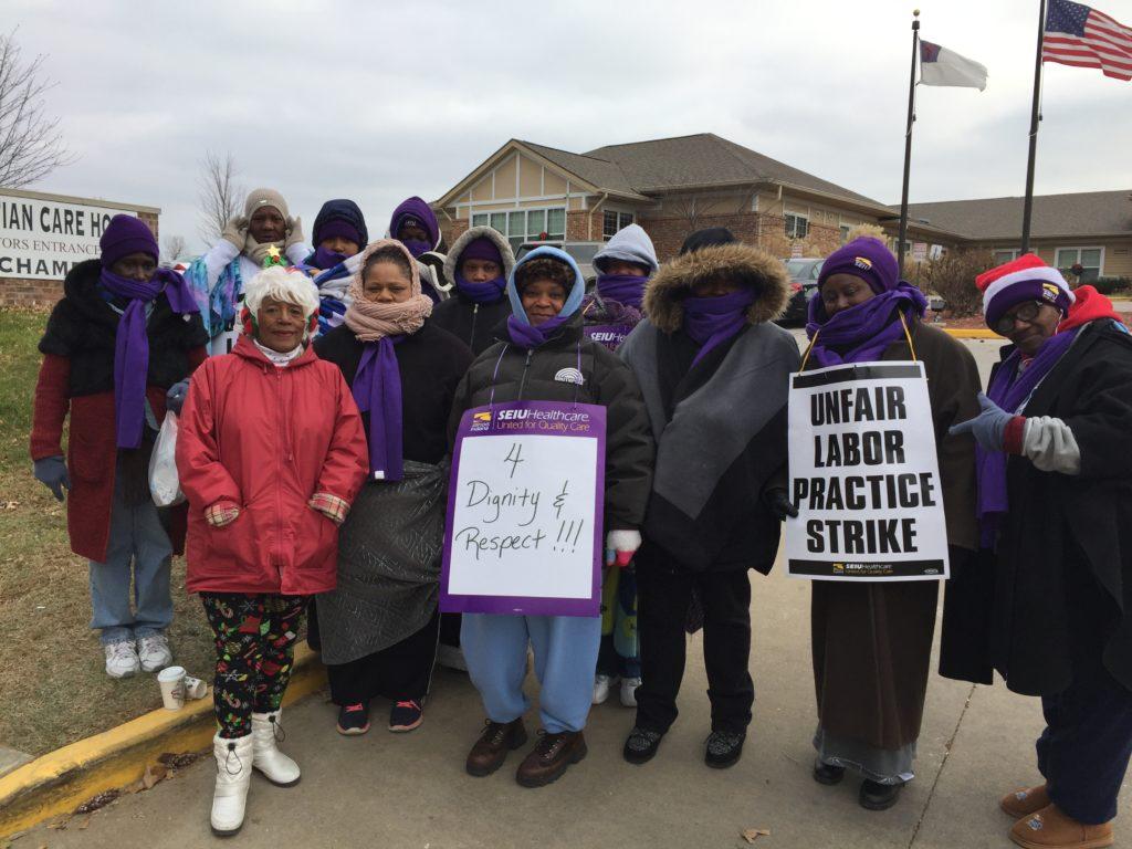 Day 14 of Christian Care Nursing Home strike, Thursday, Dec. 14th.