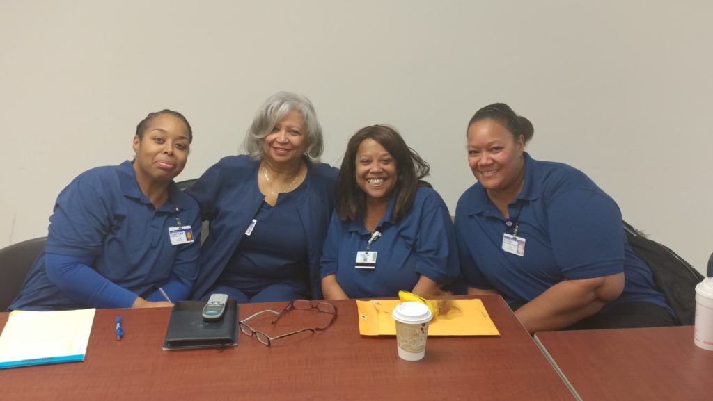 From left: Methodist Hospital workers, Bernita Drayton, Debra Boles, and Sylvia Green met with Methodist Hospital's management to discuss short staffing both the Southlake and Northlake campuses held coordinated marches on the boss, forcing management to address workers' concerns.