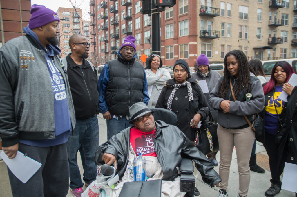 In Chicago, PAs and people with disabilities in the Home Services Program delivered over 1500 petition signatures demanding the release of our 48-cent raises.