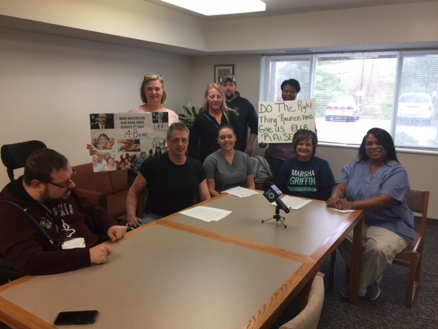 Carbondale-area caregivers were joined by Marsha Griffin, who is running for state representative.