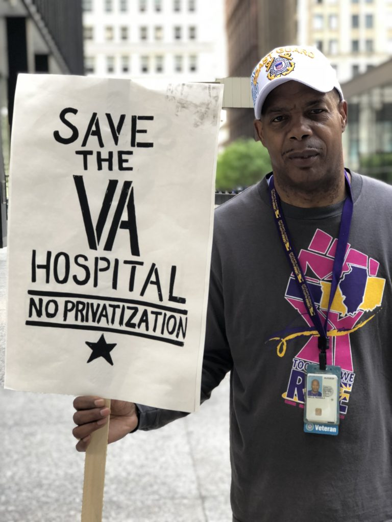 Reggie Wells, Environmental Management Service (EMS) at Jesse Brown VA for 14 years speaks out
