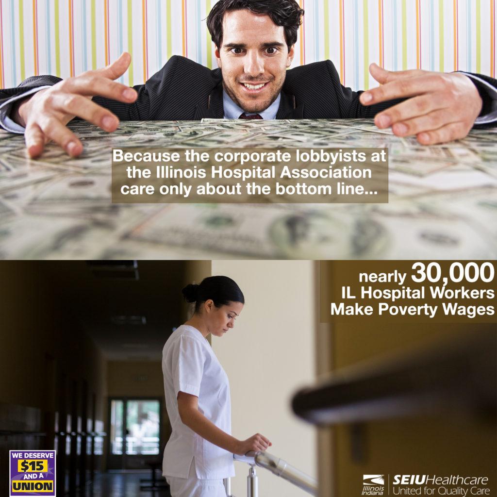Insta IHA Hospital Worker Poverty