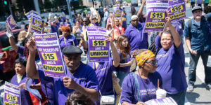 Hospital Service Workers Rallying for $15 and a Union