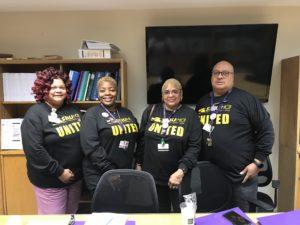 Part of Roseland Hospital's bargaining committee.