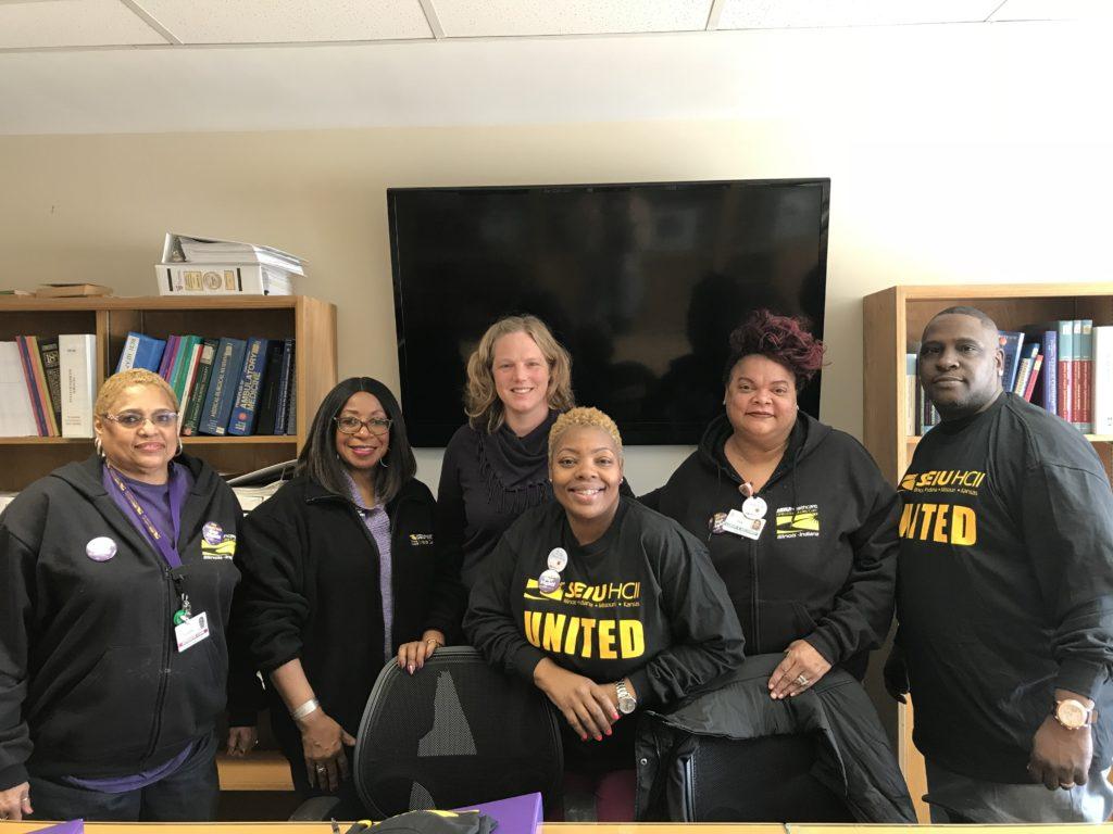 Roseland Hospital's bargaining team.