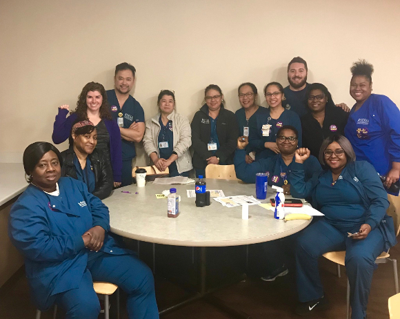 A majority of Mt. Sinai nurses demand to be recognized as part of SEIU Healthcare Illinois, June 6th, 2019.