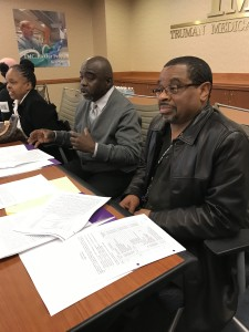 Stovall at the bargaining table representing his coworkers and negotiating a new contract.