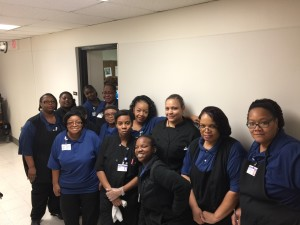 """Jan. 25th, 2018: Food service workers at the Northlake Campus at Methodist Hospital organized an action and march on the boss to tell management """"short staffing"""" is not acceptable."""
