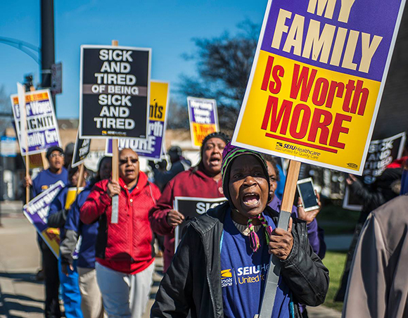 Nursing Home Workers marching_580