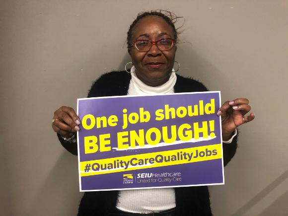 Dorey Norwood, receptionist and steward, Oak Park Oasis nursing home.