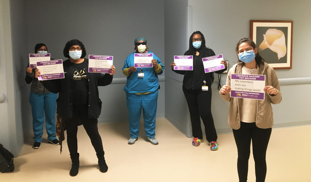 Northwestern Workers with signs2